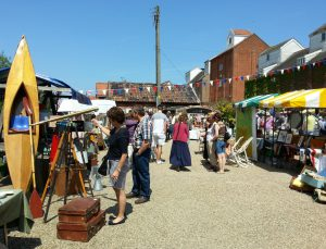Vintage market at Snape Maltings, Suffolk
